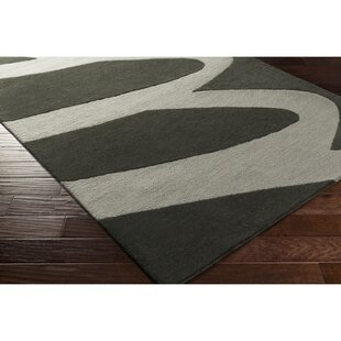 Nida Hand-Tufted Black/Gray Area Rug ByWrought Studio