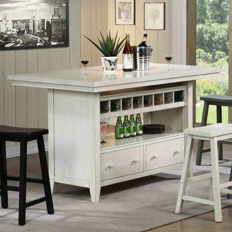 Recker Wood Kitchen Island Reviews Birch Lane
