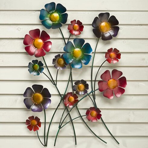 Metal Flower Wall Art Metal Wall Plow And Hearth