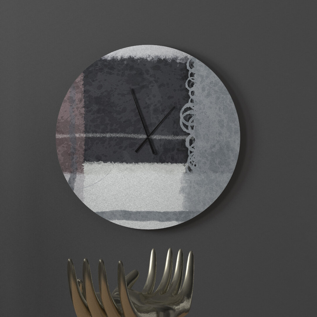 Latitude Run Strapping Sought After Abstract Metal Wall Clock Wayfair