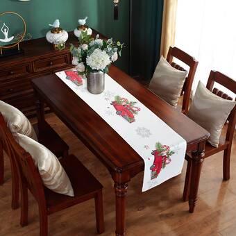 The Holiday Aisle Scarlett 100 Cotton Christmas Table Runner Reviews Wayfair