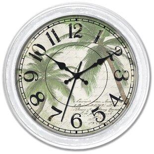 16 Palm Tree Wall Clock by Ashton Sutton