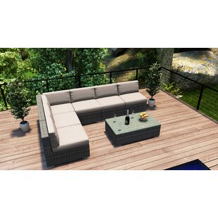 Hobbs 7 Piece Sectional Set With Cushions By Rosecliff Heights