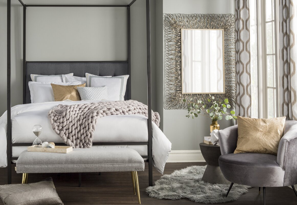 Wade Logan Decorative Wall Mirror & Reviews   Wayfair
