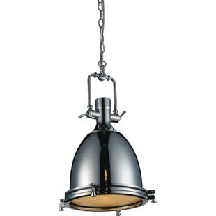 Show 1-Light Bell Pendant by CWI Lighting