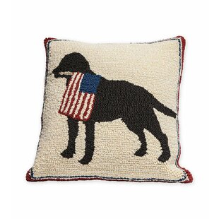 Patriotic Pooch Indoor/Outdoor Throw Pillow