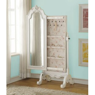 Eddins Free Standing Jewelry Armoire with Mirror By Harriet Bee