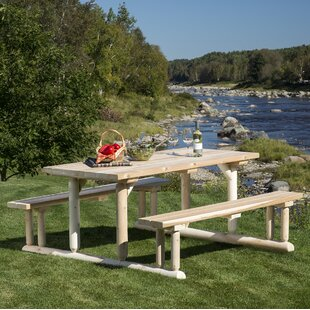 Hooper Solid Wood Picnic Table by Loon Peak