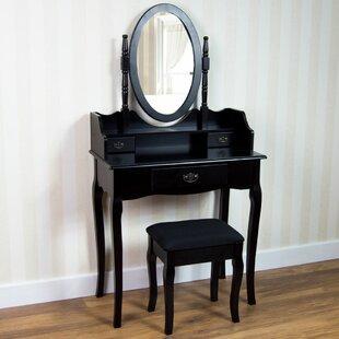 Vida Nishano Dressing Table Set With Mirror By Rosalind Wheeler
