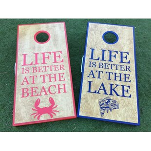 West Georgia Cornhole Lake and Beach Life 10 Piece Cornhole Set