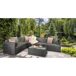 Aaliyah 6 Seater Rattan Effect Sofa Set By Zipcode Design