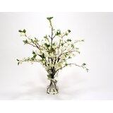 White Cherry Blossoms in Glass Cylinder