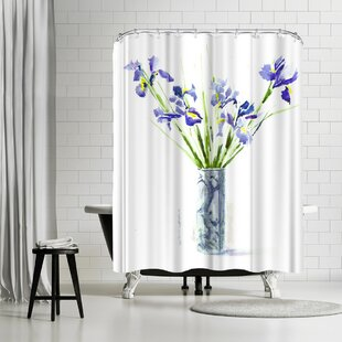 Anne Farrall Doyle Iris Single Shower Curtain