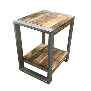 Union Rustic Lupo Reclaimed Wood End Table