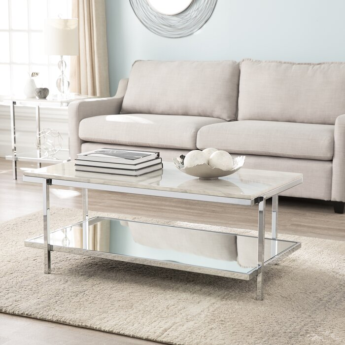 Skipton Faux Marble Coffee Table