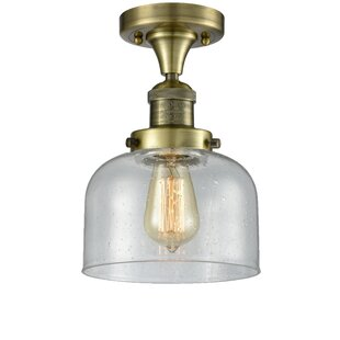 Adette 1-Light Semi Flush Mount by 17 Stories