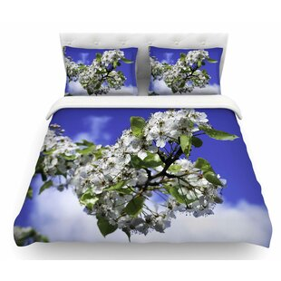Cherry Blossoms and Sky by Nick Nareshni Featherweight Duvet Cover