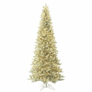 87dafaca2ea8 3.5  Platinum Fir Artificial Christmas Tree with 250 LED Clear White Lights  with Stand