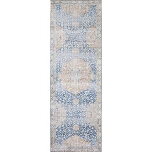 Nicolai Blue/Off-White Area Rug By World Menagerie