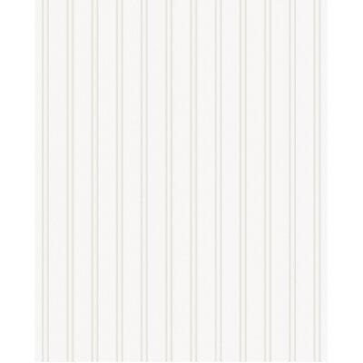 "Paintable Prepasted Beadboard 33' x 20"" Stripes 3D Embossed Wallpaper Roll"
