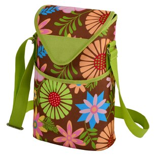 Floral Wine/Water Bottle Tote Bag