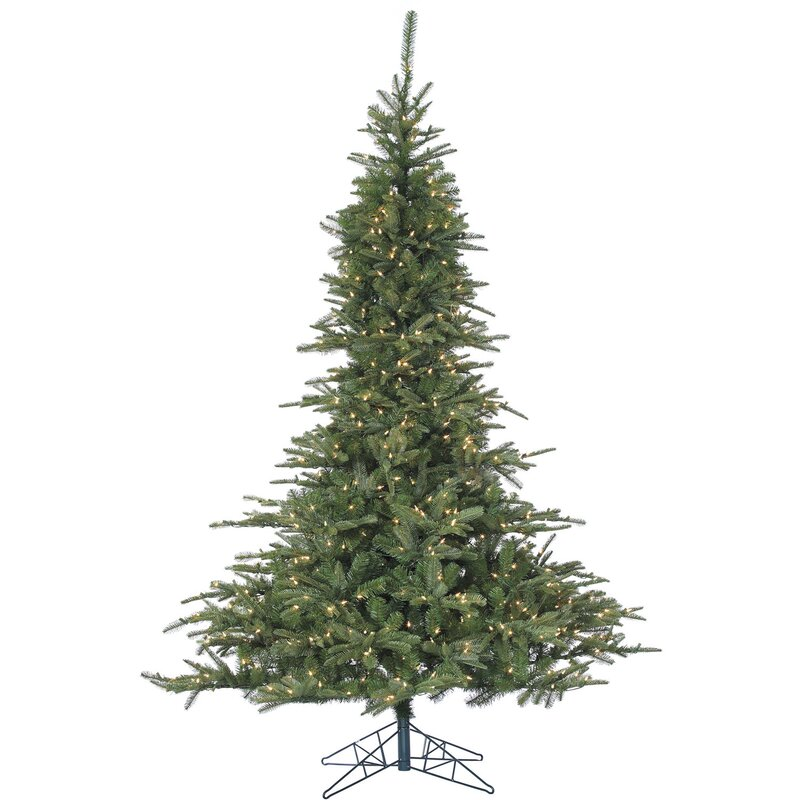 Fraser Hill Farm Cluster Pine 7.5' Green Artificial Christmas Tree ...