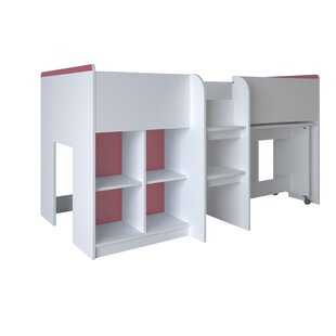 Abdullah Single Mid Sleeper Bed With Shelves By Isabelle & Max