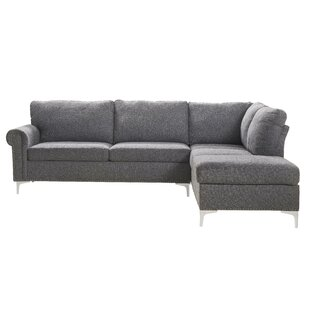 Hilltop Fabric Upholstered Wooden Sectional