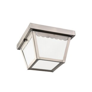 Price Check Aylesworth 1-Light Outdoor Flush Mount By August Grove