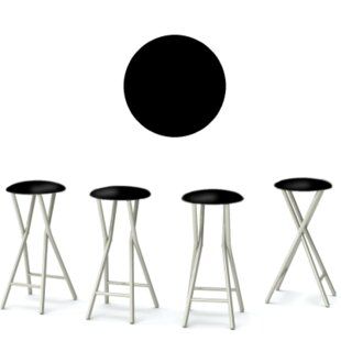 Keep Calm and Party On 30'' Patio Bar Stool (Set of 4)