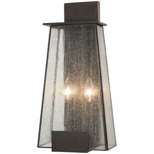 Wrought Studio Bleadon 2-Light Outdoor Flush Mount