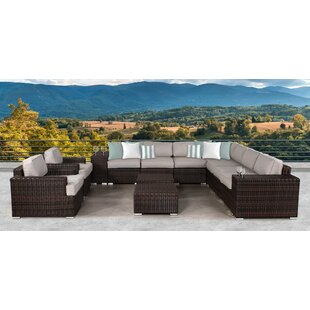 Bayou Breeze Archie 13 Piece Sectional Set with Cushions