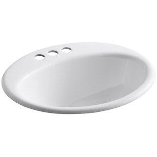 Price comparison Farmington Metal Oval Drop-In Bathroom Sink with Overflow ByKohler