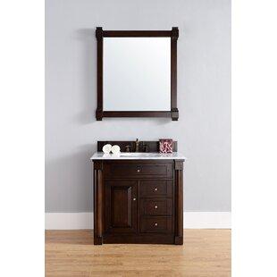 Maurice 36 Double Burnished Mahogany Bathroom Vanity Set by Alcott Hill