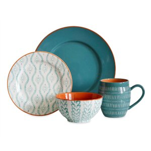 Buy Tangiers 16 Piece Dinnerware Set, Service for 4!