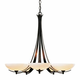 Aegis 5-Light Shaded Chandelier by Hubbardton Forge