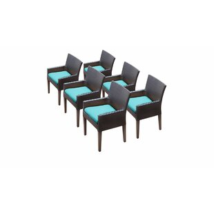 Meier Patio Dining Chair with Cushion (Set of 6)