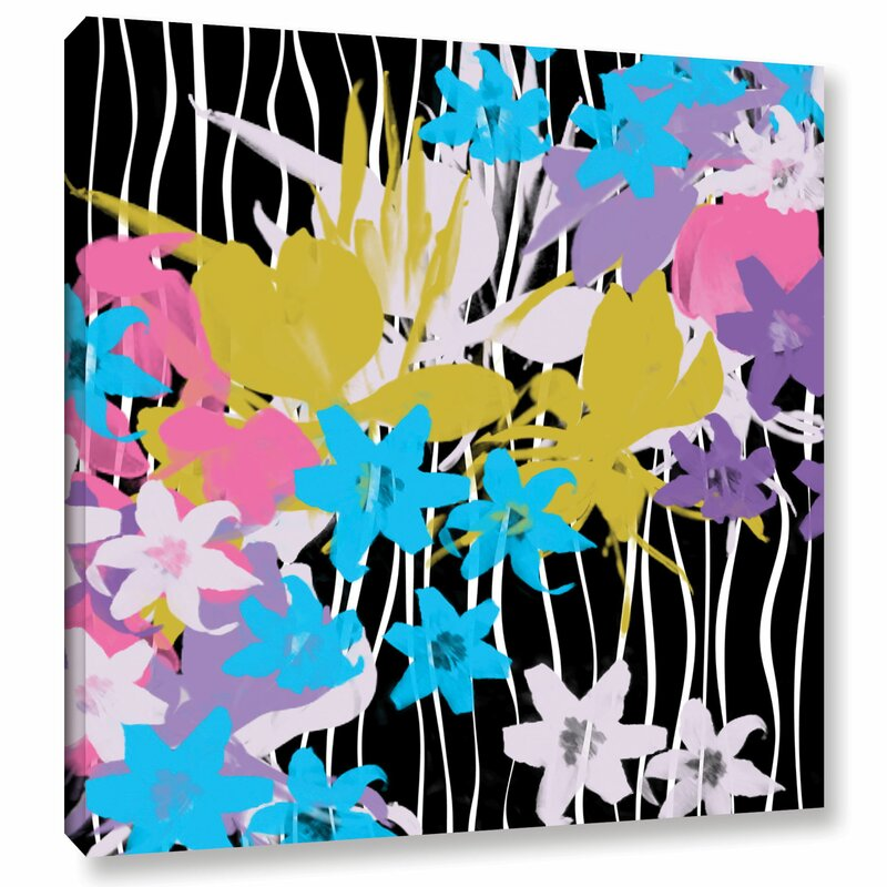 Latitude Run Blossoming Garden Viii Painting Print On Wrapped Canvas Wayfair