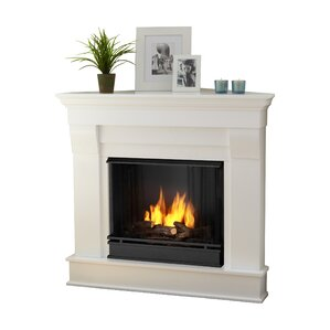 Chateau Corner Gel Fuel Fireplace by Real Fl..