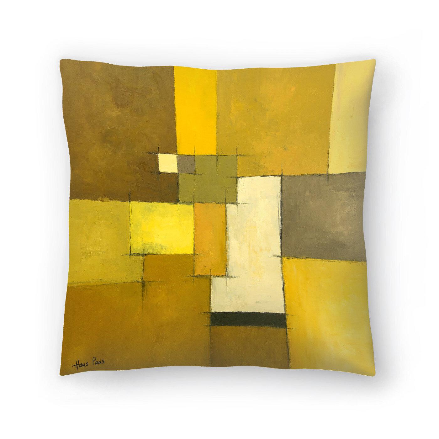 East Urban Home Hans Paus Abstract 9 Throw Pillow Wayfair
