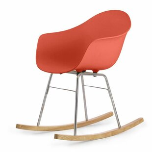 Ta Er Rocking Chair - Cream Armchair - Chrome Frame By Blatt