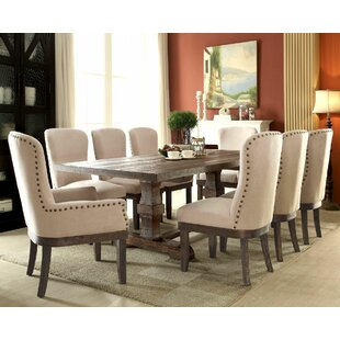 Geddes 9 Piece Dining Set Gracie Oaks