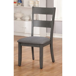 Koreana Wooden Fabric Padded Seat Upholstered Dining Chair (Set Of 2) by Gracie Oaks Bargain