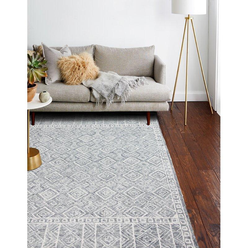 Lafond Handmade Tufted Wool Slate Rug Reviews Birch Lane