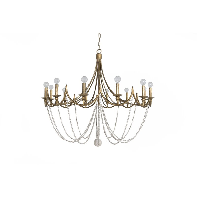 Gabby Sandra 12 Light Candle Style Empire Chandelier Reviews Perigold