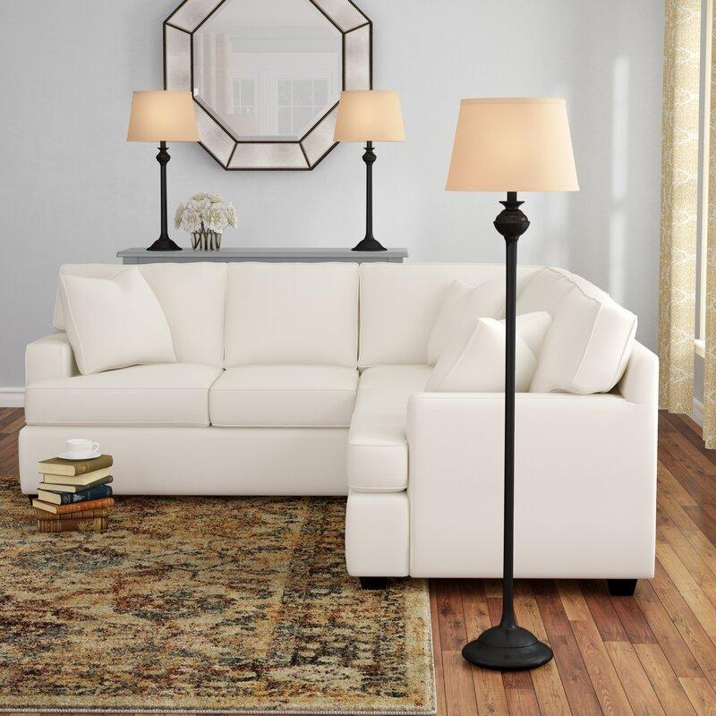 3 lamp set floor lamp charlbury piece table and floor lamp set alcott hill reviews
