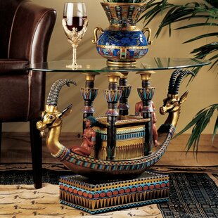 Buy clear Egyptian Barge To The Beyond Coffee Table By Design Toscano