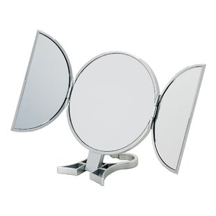 Find a 3-Way Silver Round Vanity Mirror By Danielle Creations