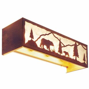 Steel Partners Timber Ridge with Bear 4-Light Bath Bar