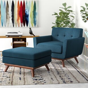 Johnston Armchair and Ottoman by Langley Street